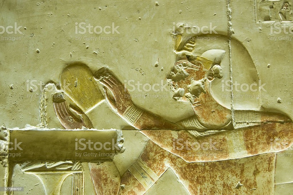 Seti Pouring Wine stock photo