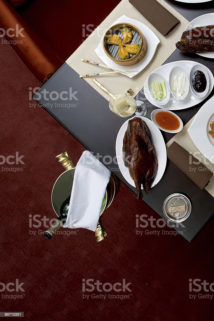 Setout in Chinese restaurant royalty-free stock photo