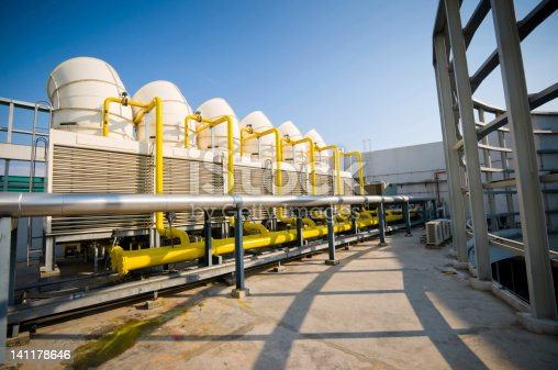 istock Sets of cooling towers in conditioning systems 141178646