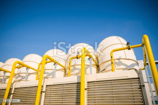 istock Sets of cooling towers in conditioning systems 141572236