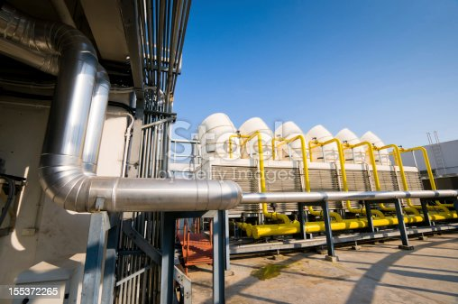 istock Sets of cooling towers in conditioning systems 155372265