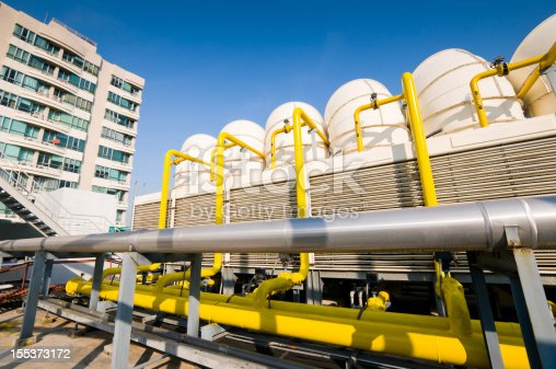 istock Sets of cooling towers in conditioning systems 155373172