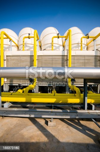 istock Sets of cooling towers in conditioning systems 155373180