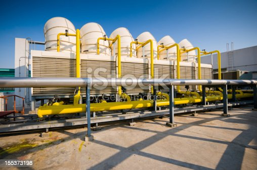 istock Sets of cooling towers in conditioning systems 155373198