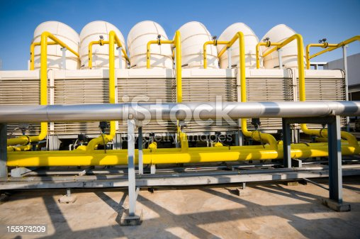 istock Sets of cooling towers in conditioning systems 155373209
