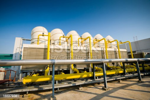 istock Sets of cooling towers in conditioning systems 155379381