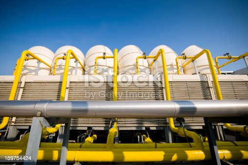 istock Sets of cooling towers in conditioning systems 159754424