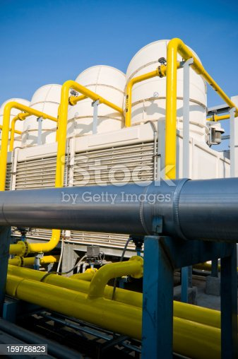 istock Sets of cooling towers in conditioning systems 159756823