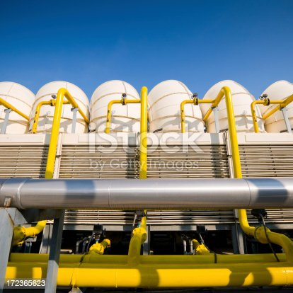 istock Sets of cooling towers in conditioning systems 172365623