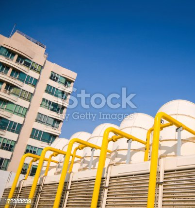 istock Sets of cooling towers in conditioning systems 172383239