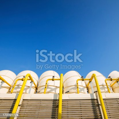 istock Sets of cooling towers in conditioning systems 172391274
