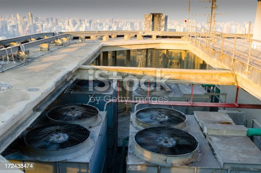 istock Sets of cooling towers in conditioning systems 172438474