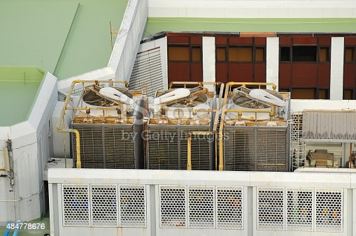 istock Sets of cooling towers in conditioning systems 484778676
