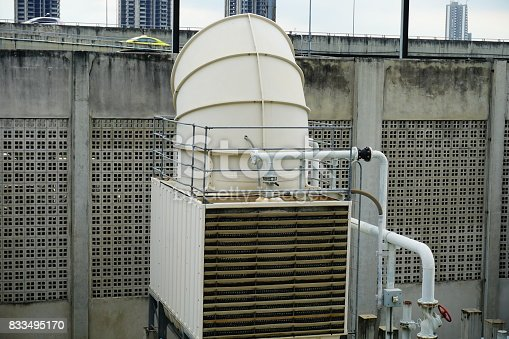istock Sets of cooling towers in conditioning systems 833495170
