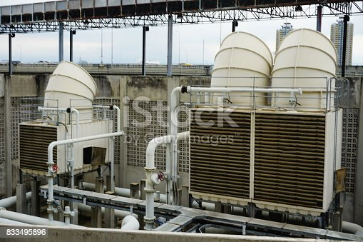 istock Sets of cooling towers in conditioning systems 833495896