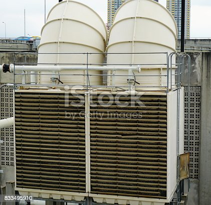 istock Sets of cooling towers in conditioning systems 833495910