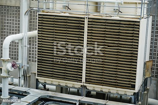 istock Sets of cooling towers in conditioning systems 833496570