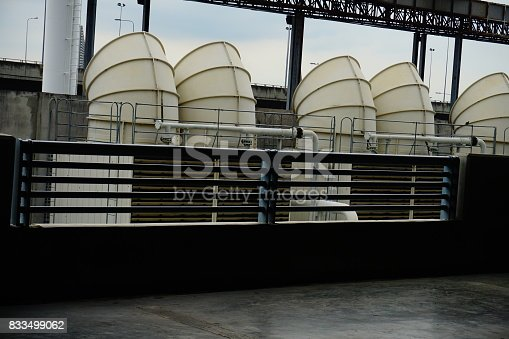 istock Sets of cooling towers in conditioning systems 833499062