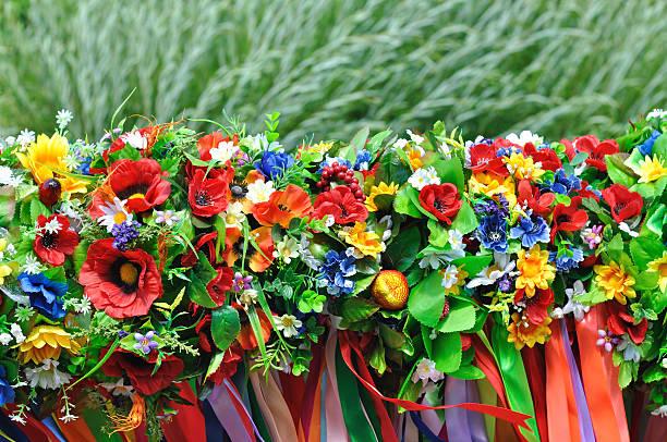 Set di tradizionali wreaths Ucraina - foto stock