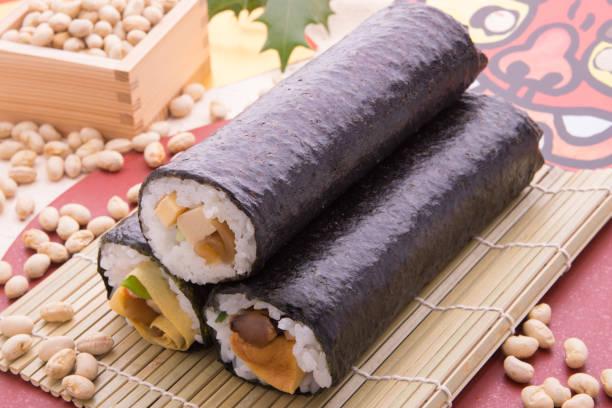 節分寿司ロール - 節分 ストックフォトと画像