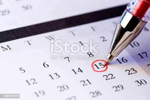 istock Setting a date 106561919