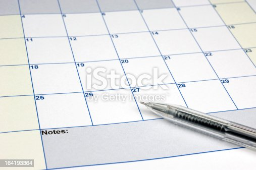 Important events written 0n the calendar