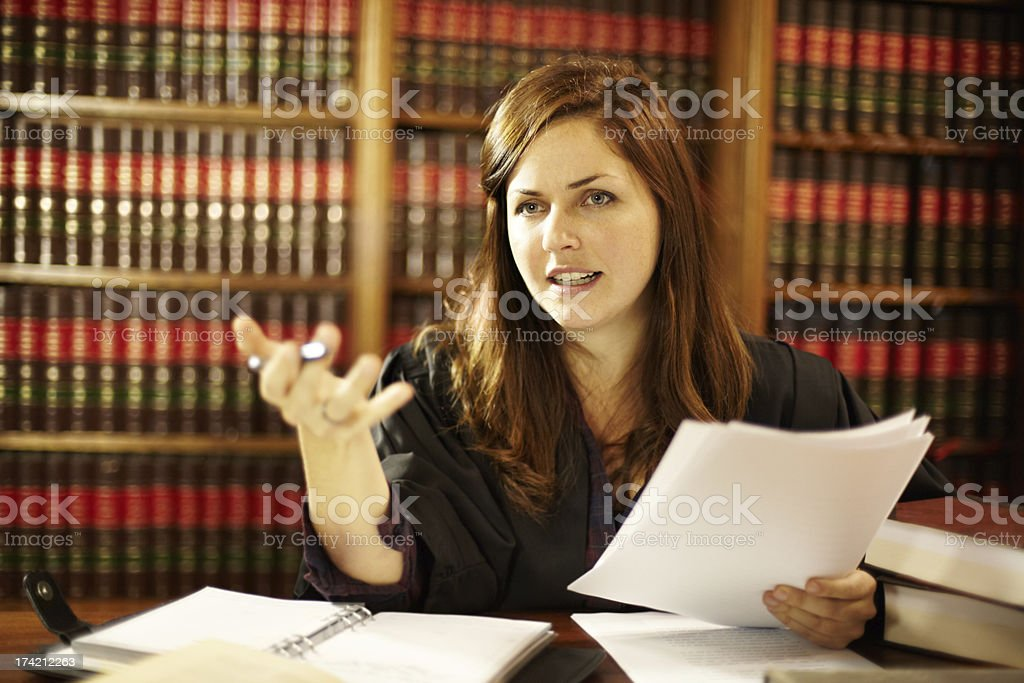 Setting a legal precedence stock photo
