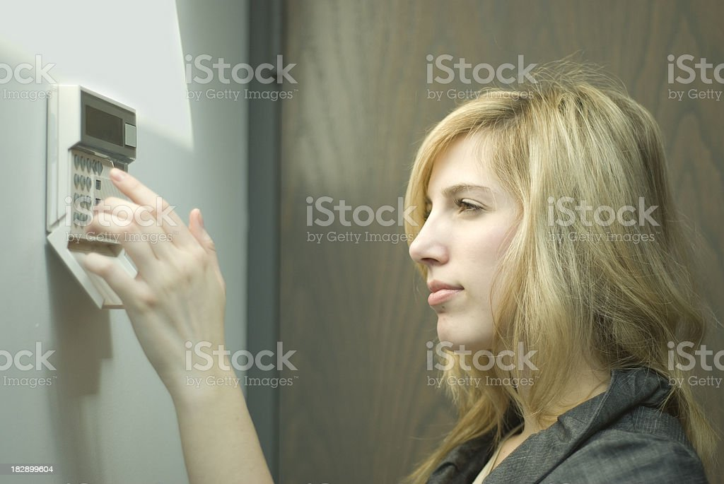 Setting Alarm stock photo