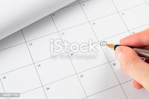 177774403 istock photo Setting an Important Day on Calendar 490617184