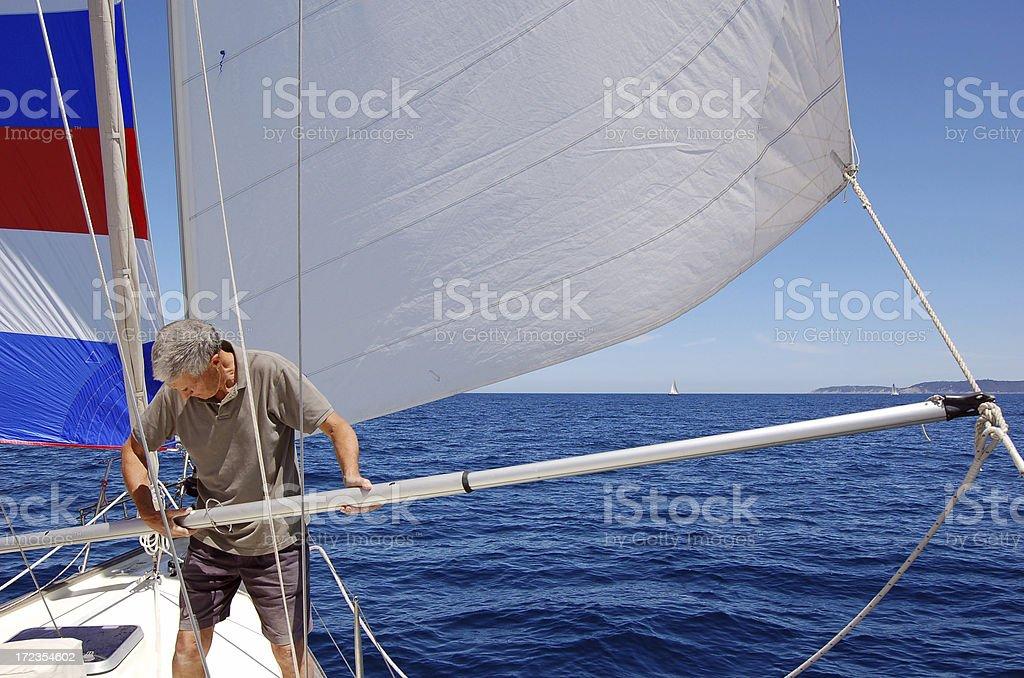 Setting extra Sail royalty-free stock photo