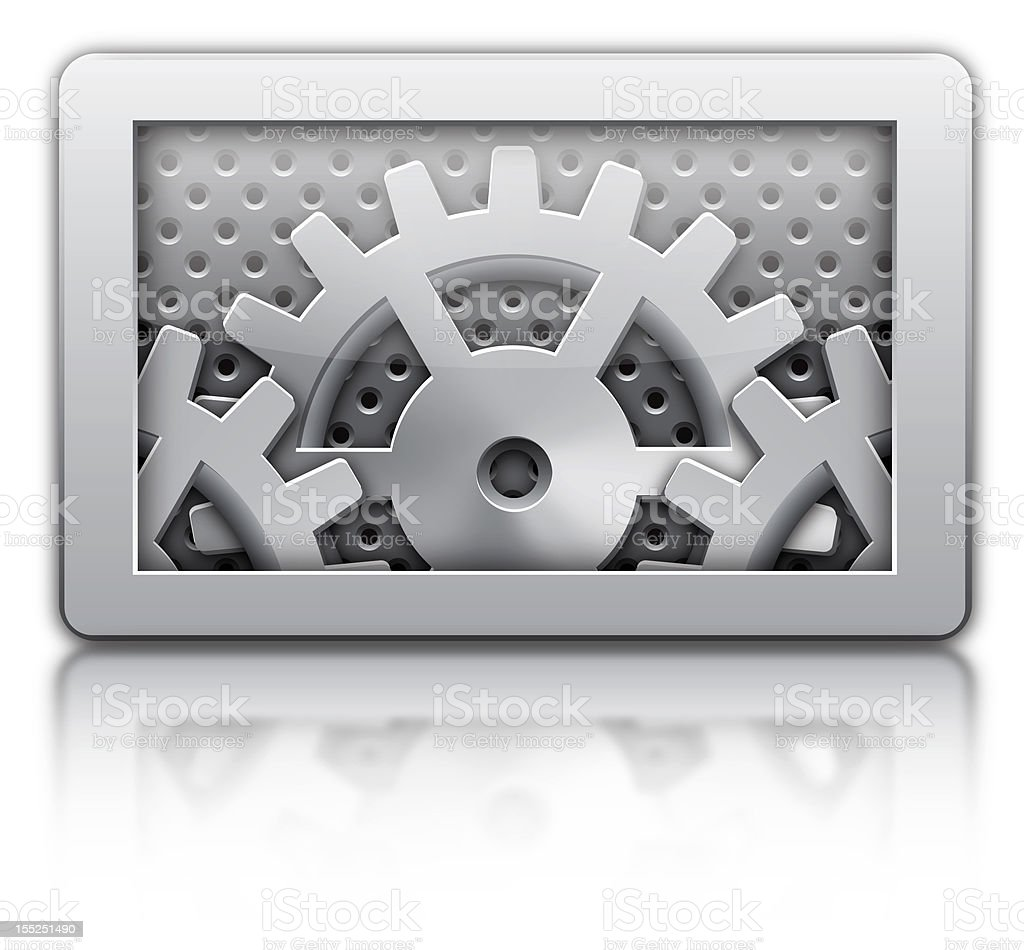 setting gears icon royalty-free stock photo