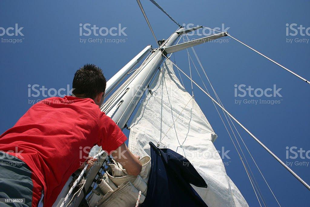 Setting sail royalty-free stock photo