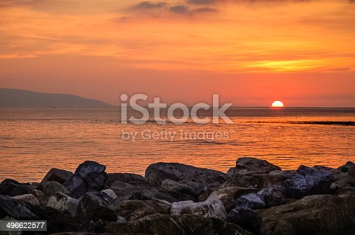 The Famous Sunset overlooking Galway Bay in the West of Ireland.