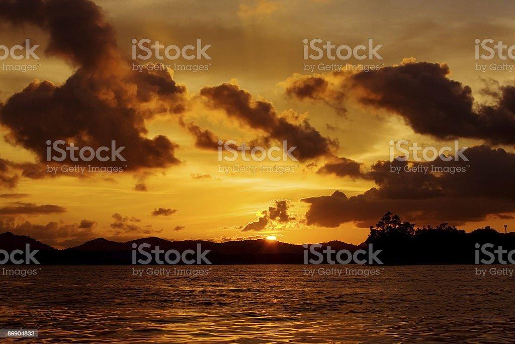 Настройка солнца Стоковые фото Стоковая фотография