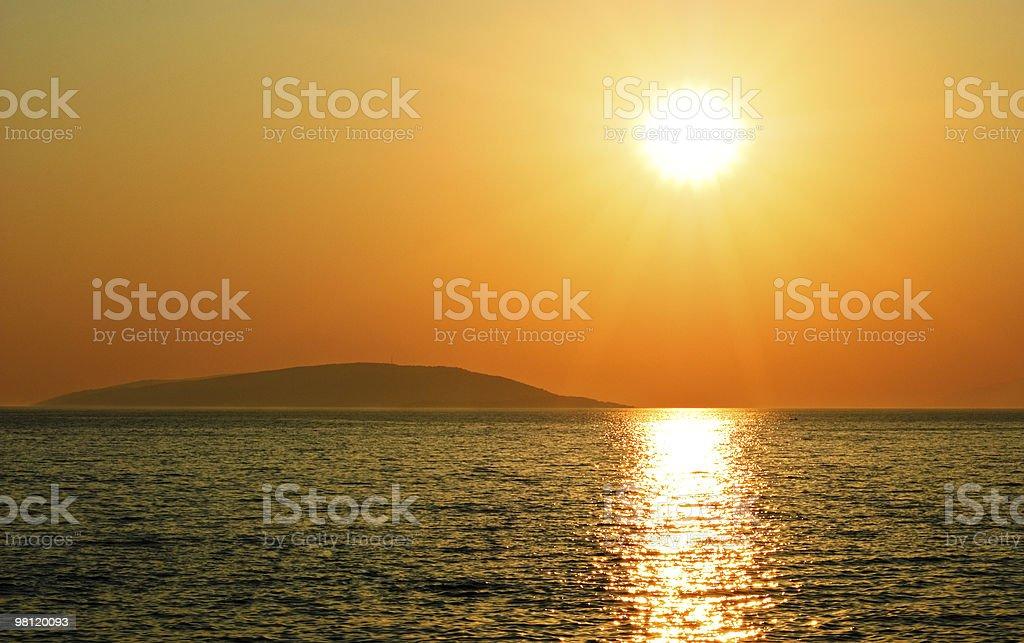 Setting sun royalty-free stock photo