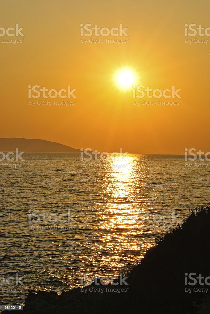 Setting sun royalty-free stock photo