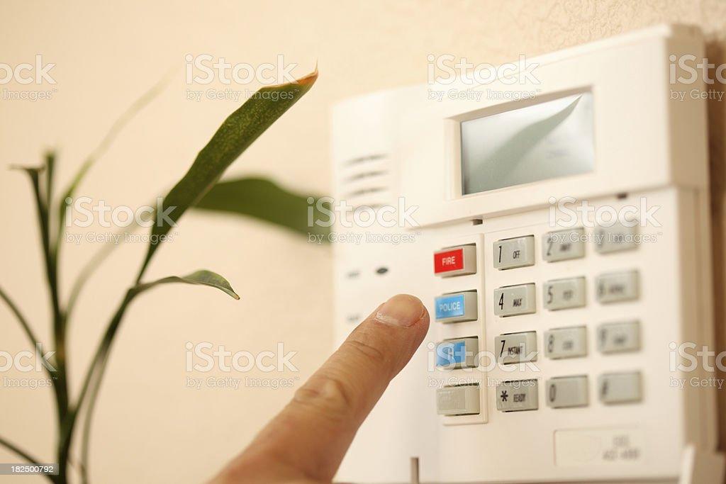 setting the alarm stock photo
