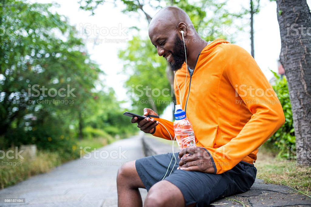Setting the app for training stock photo