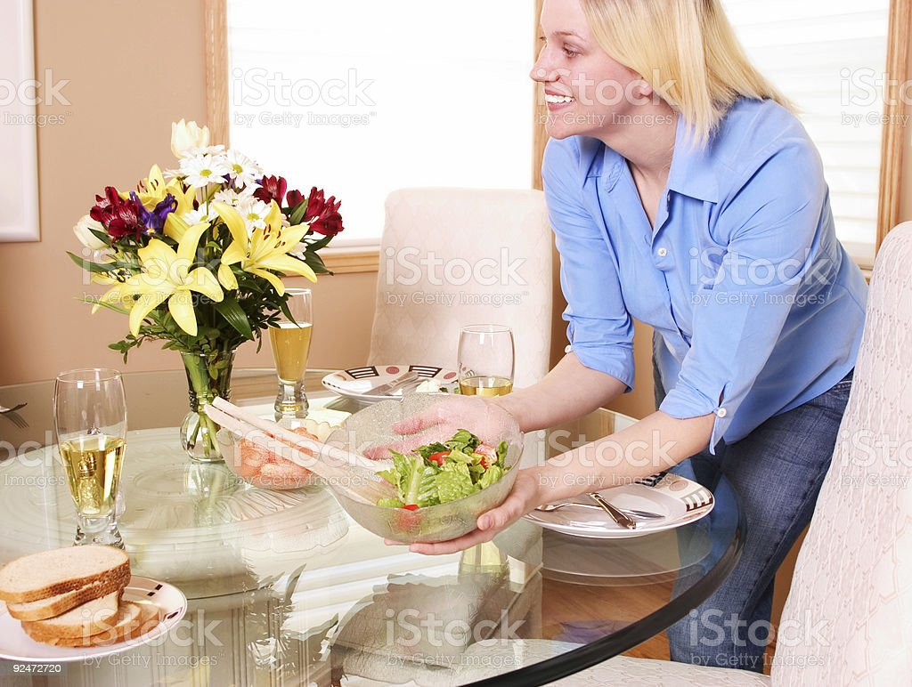Setting the Table royalty-free stock photo
