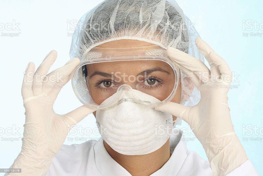 setting up protective workwear royalty-free stock photo