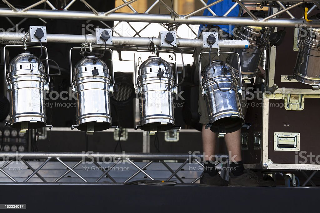 Setting up the Stage royalty-free stock photo