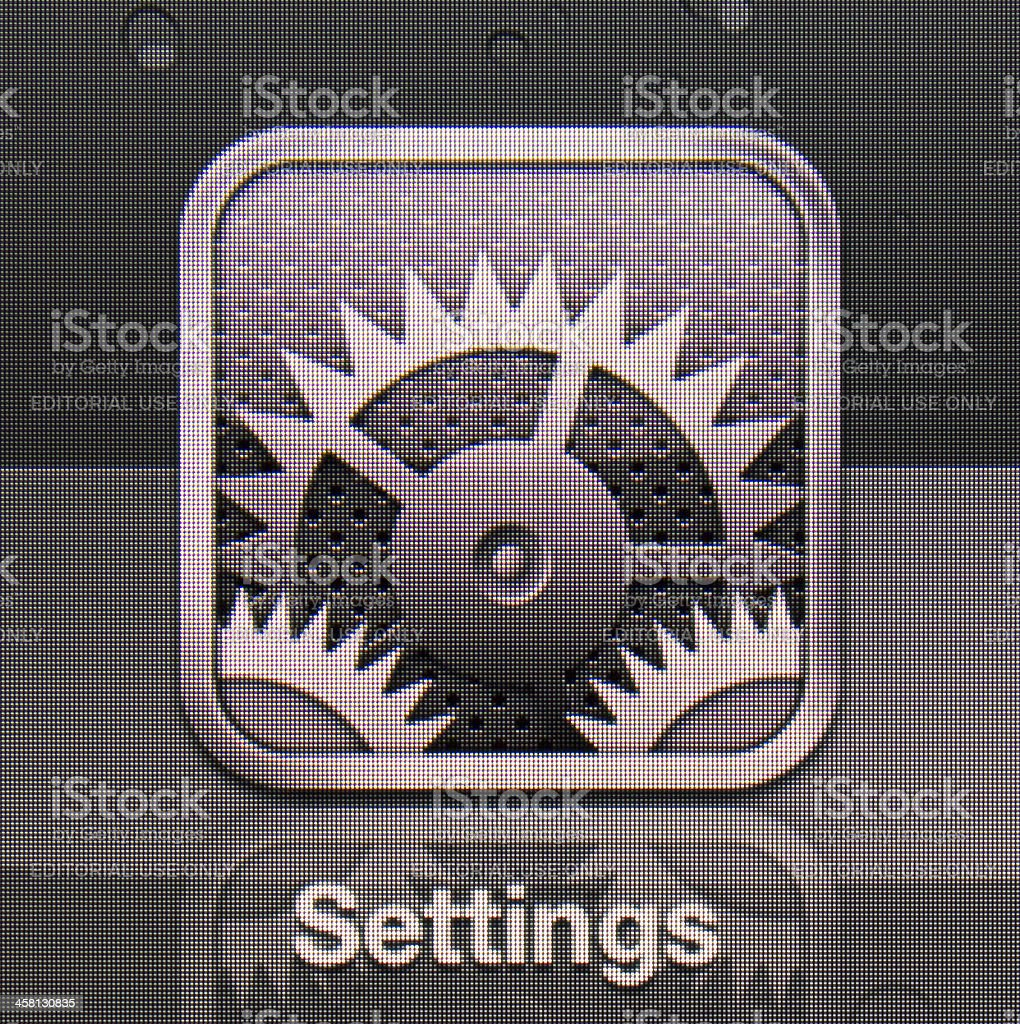 Settings royalty-free stock photo