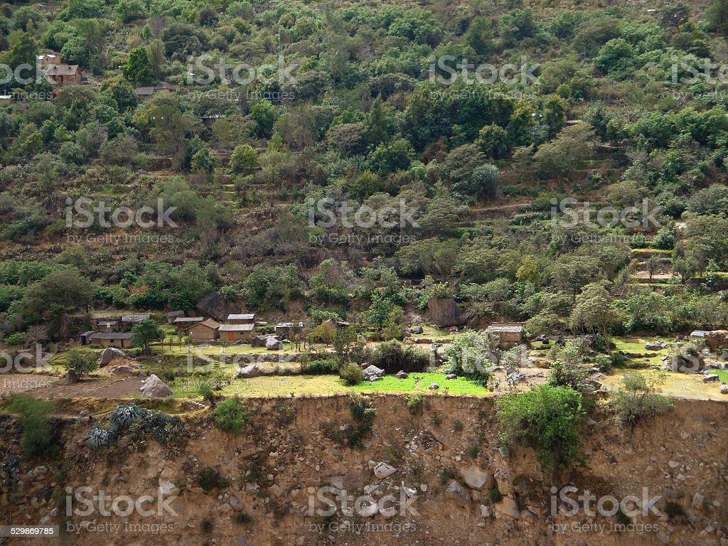 settlement at Colca Canyon stock photo