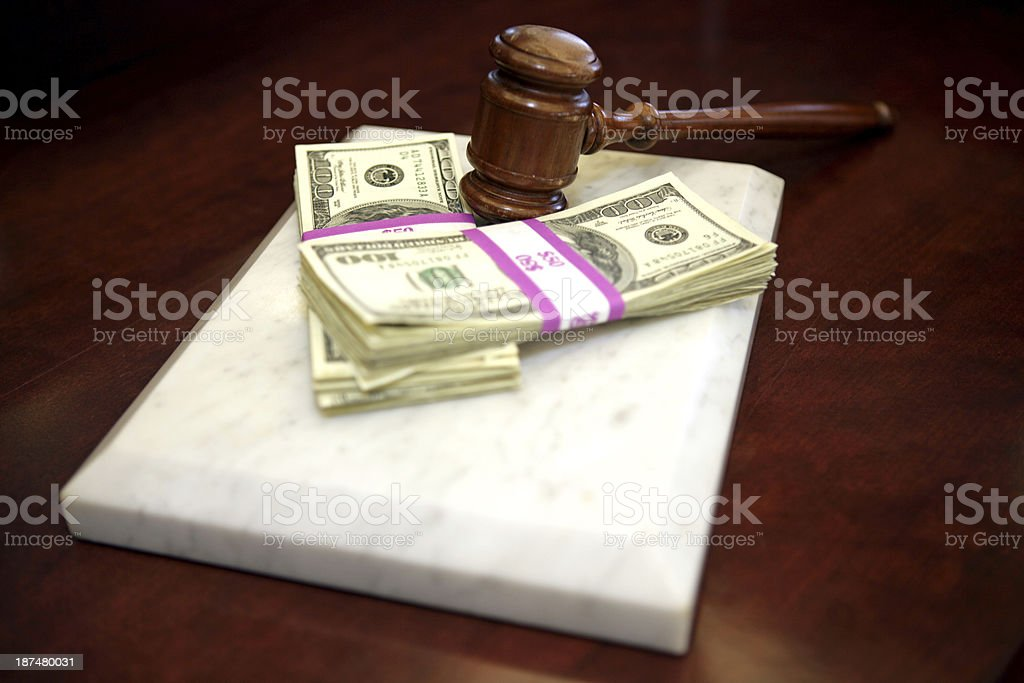 Settlement Costs stock photo
