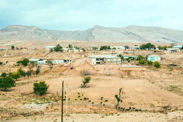 Settlement in Uzbekistan stock photo