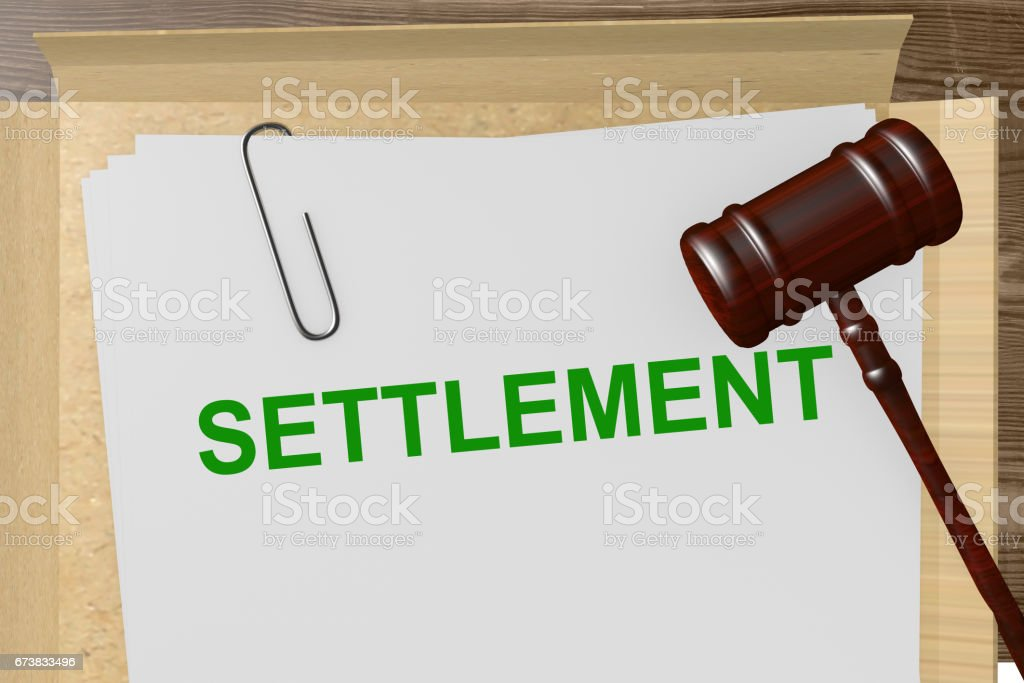Settlement stock photo