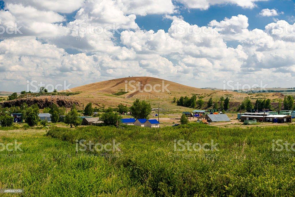 Settlement Triomphe. Mountain Shaman. stock photo