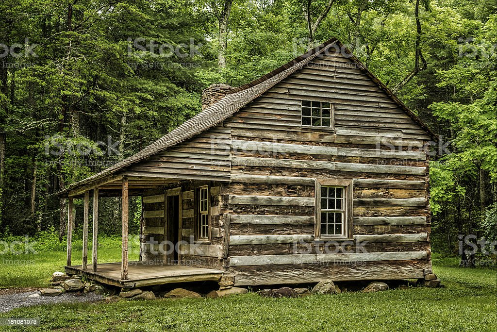 Settlers' Cabin In The Smoky Mountains royalty-free stock photo