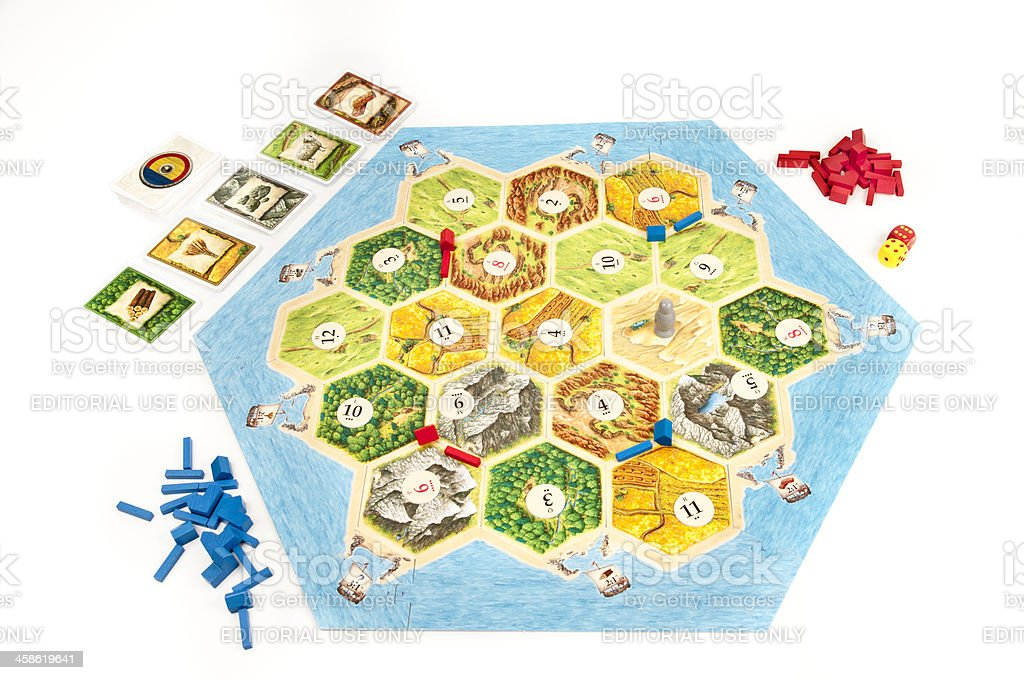 Settlers of Catan Game Board royalty-free stock photo