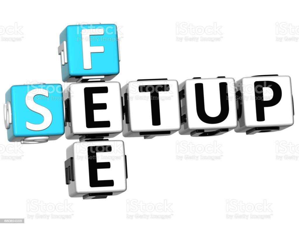 3d Setup Fee Crossword Stock Photo Download Image Now Istock